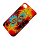 Crazy Mandelbrot Fractal Red Yellow Turquoise Apple iPhone 4/4S Hardshell Case with Stand View4
