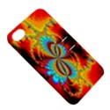 Crazy Mandelbrot Fractal Red Yellow Turquoise Apple iPhone 4/4S Hardshell Case with Stand View5