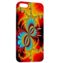 Crazy Mandelbrot Fractal Red Yellow Turquoise Apple iPhone 5 Hardshell Case with Stand View2