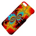 Crazy Mandelbrot Fractal Red Yellow Turquoise Apple iPhone 5 Hardshell Case with Stand View4
