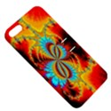 Crazy Mandelbrot Fractal Red Yellow Turquoise Apple iPhone 5 Hardshell Case with Stand View5