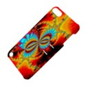 Crazy Mandelbrot Fractal Red Yellow Turquoise Apple iPod Touch 5 Hardshell Case with Stand View4