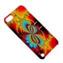Crazy Mandelbrot Fractal Red Yellow Turquoise Apple iPod Touch 5 Hardshell Case with Stand View5