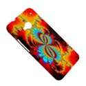 Crazy Mandelbrot Fractal Red Yellow Turquoise HTC One M7 Hardshell Case View5