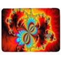 Crazy Mandelbrot Fractal Red Yellow Turquoise Samsung Galaxy Tab 7  P1000 Flip Case View1