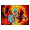 Crazy Mandelbrot Fractal Red Yellow Turquoise Samsung Galaxy Tab 10.1  P7500 Flip Case View1