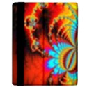 Crazy Mandelbrot Fractal Red Yellow Turquoise Samsung Galaxy Tab 10.1  P7500 Flip Case View2
