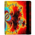 Crazy Mandelbrot Fractal Red Yellow Turquoise Samsung Galaxy Tab 10.1  P7500 Flip Case View3
