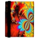 Crazy Mandelbrot Fractal Red Yellow Turquoise Samsung Galaxy Tab 8.9  P7300 Flip Case View3