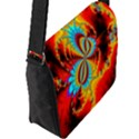Crazy Mandelbrot Fractal Red Yellow Turquoise Flap Messenger Bag (L)  View2