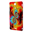 Crazy Mandelbrot Fractal Red Yellow Turquoise Sony Xperia TX View3