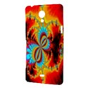Crazy Mandelbrot Fractal Red Yellow Turquoise Sony Xperia T View3