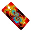 Crazy Mandelbrot Fractal Red Yellow Turquoise Sony Xperia T View5