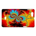 Crazy Mandelbrot Fractal Red Yellow Turquoise Sony Xperia Miro View1
