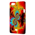 Crazy Mandelbrot Fractal Red Yellow Turquoise Sony Xperia Miro View3