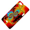 Crazy Mandelbrot Fractal Red Yellow Turquoise Sony Xperia Miro View4