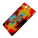 Crazy Mandelbrot Fractal Red Yellow Turquoise Sony Xperia Z View4