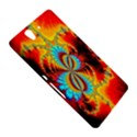 Crazy Mandelbrot Fractal Red Yellow Turquoise Sony Xperia Z View5