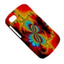 Crazy Mandelbrot Fractal Red Yellow Turquoise BlackBerry Q10 View5