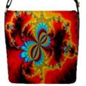 Crazy Mandelbrot Fractal Red Yellow Turquoise Flap Covers (S)  View1