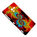 Crazy Mandelbrot Fractal Red Yellow Turquoise Sony Xperia ZL (L35H) View5