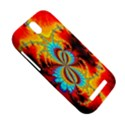 Crazy Mandelbrot Fractal Red Yellow Turquoise HTC One SV Hardshell Case View5
