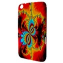 Crazy Mandelbrot Fractal Red Yellow Turquoise Samsung Galaxy Tab 3 (8 ) T3100 Hardshell Case  View3