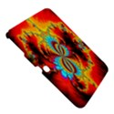 Crazy Mandelbrot Fractal Red Yellow Turquoise Samsung Galaxy Tab 3 (10.1 ) P5200 Hardshell Case  View5