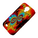 Crazy Mandelbrot Fractal Red Yellow Turquoise Samsung Galaxy S4 Classic Hardshell Case (PC+Silicone) View4