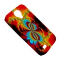 Crazy Mandelbrot Fractal Red Yellow Turquoise Samsung Galaxy S4 Classic Hardshell Case (PC+Silicone) View5