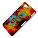Crazy Mandelbrot Fractal Red Yellow Turquoise Sony Xperia Z1 Compact View4