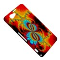 Crazy Mandelbrot Fractal Red Yellow Turquoise Sony Xperia Z1 Compact View5