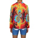 Crazy Mandelbrot Fractal Red Yellow Turquoise Kids  Long Sleeve Swimwear View2