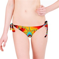 Crazy Mandelbrot Fractal Red Yellow Turquoise Bikini Bottom