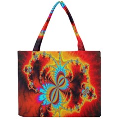 Crazy Mandelbrot Fractal Red Yellow Turquoise Mini Tote Bag