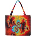 Crazy Mandelbrot Fractal Red Yellow Turquoise Mini Tote Bag View1