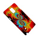 Crazy Mandelbrot Fractal Red Yellow Turquoise Samsung Galaxy Note 4 Hardshell Case View5