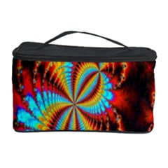 Crazy Mandelbrot Fractal Red Yellow Turquoise Cosmetic Storage Case
