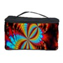 Crazy Mandelbrot Fractal Red Yellow Turquoise Cosmetic Storage Case View1
