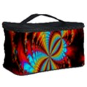 Crazy Mandelbrot Fractal Red Yellow Turquoise Cosmetic Storage Case View2