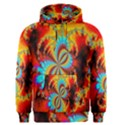 Crazy Mandelbrot Fractal Red Yellow Turquoise Men s Pullover Hoodie View1