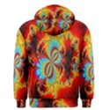 Crazy Mandelbrot Fractal Red Yellow Turquoise Men s Pullover Hoodie View2