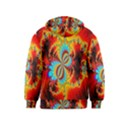 Crazy Mandelbrot Fractal Red Yellow Turquoise Kids  Pullover Hoodie View2
