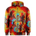 Crazy Mandelbrot Fractal Red Yellow Turquoise Men s Zipper Hoodie View1
