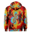 Crazy Mandelbrot Fractal Red Yellow Turquoise Men s Zipper Hoodie View2