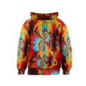 Crazy Mandelbrot Fractal Red Yellow Turquoise Kids  Zipper Hoodie View1