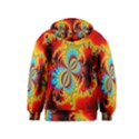 Crazy Mandelbrot Fractal Red Yellow Turquoise Kids  Zipper Hoodie View2