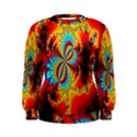 Crazy Mandelbrot Fractal Red Yellow Turquoise Women s Sweatshirt View1