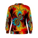 Crazy Mandelbrot Fractal Red Yellow Turquoise Women s Sweatshirt View2