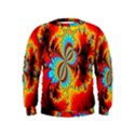 Crazy Mandelbrot Fractal Red Yellow Turquoise Kids  Sweatshirt View1